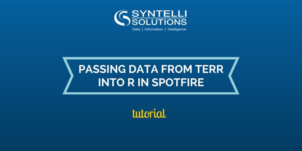 Syntelli blog - tutorial - PASSING DATA FROM TERR INTO R IN