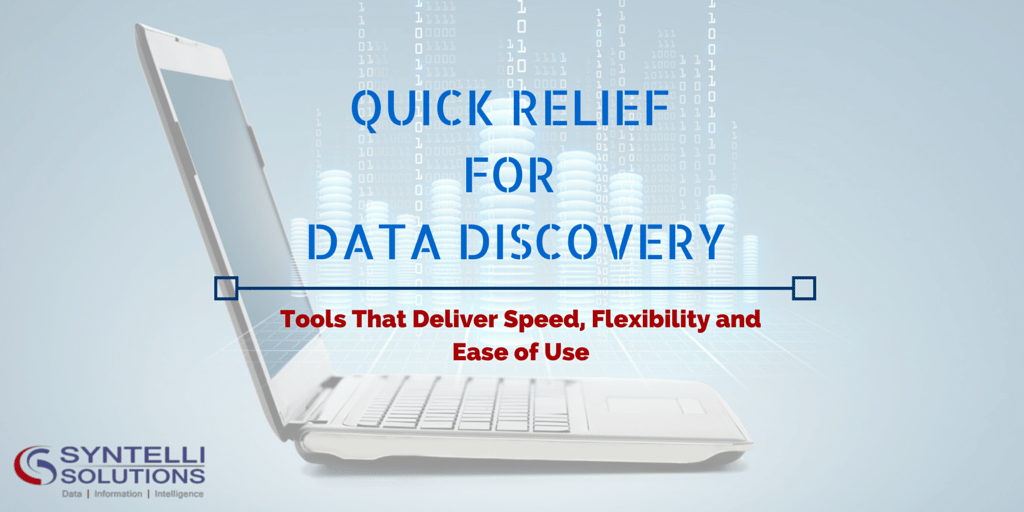 Syntelli Blog - Quick Relief for Data Discovery