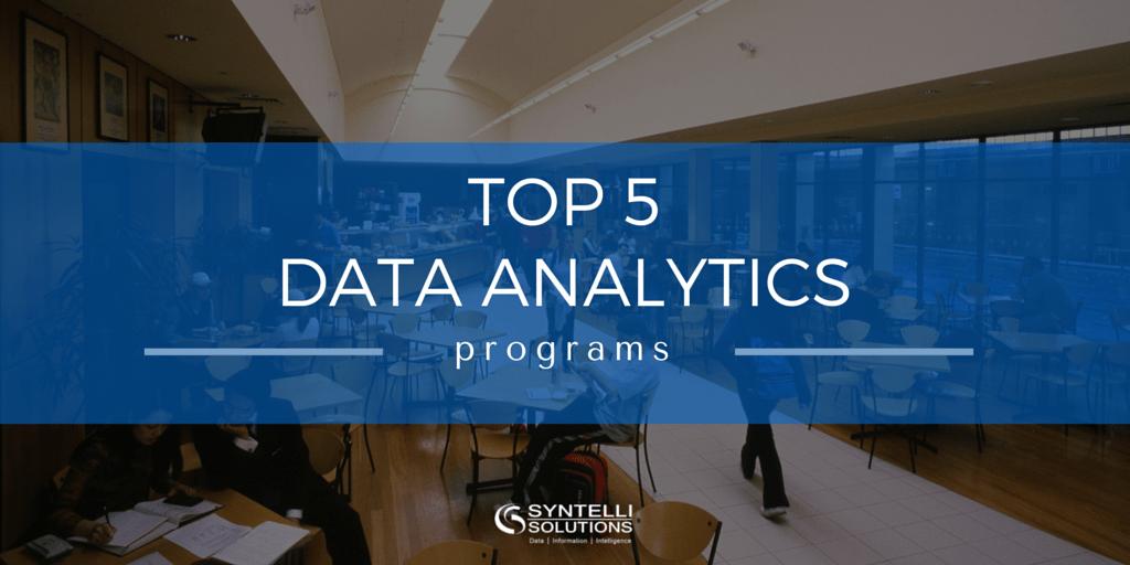 TOP 5 Data Analytics Programs-Syntelli Solutions