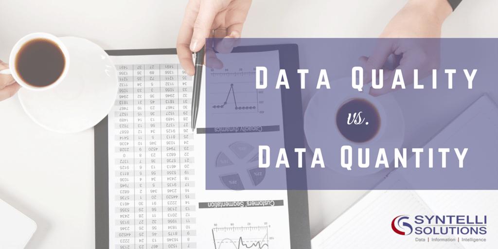Data Quality vs Data Quantity