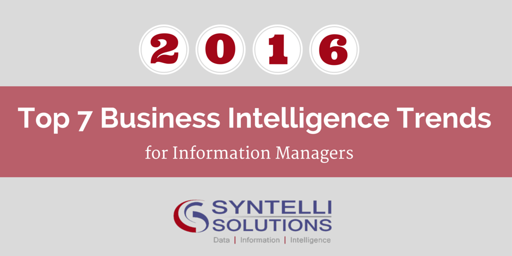 Syntelli - Top 7 Business Intelligence Trends