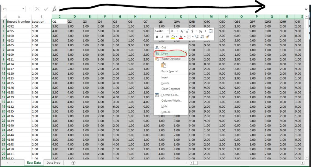 Survey Data in Tableau