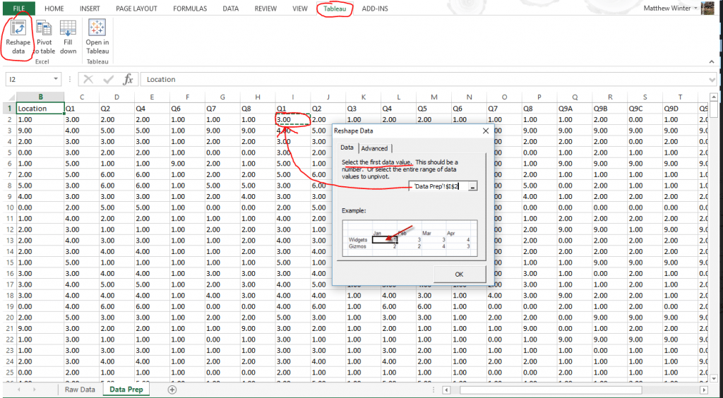 Tableau Excel Add-On To Reshape Data