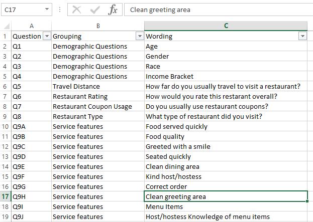 Survey Helper File Layout