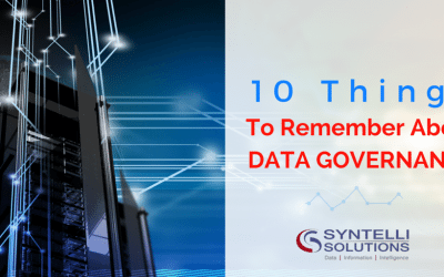 10 Things to Remember about Data Governance