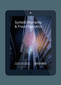 warranty & fraud analytics syntelli solutions
