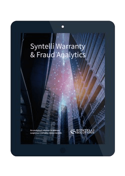 an analytical solution to address suspicious warranty claims records syntelli solutions