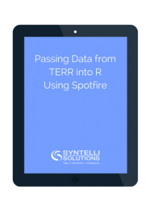 passing data using spotfire syntelli solutions inc