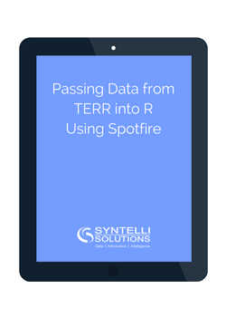 passing data from terr into r in spotfire syntelli solutions