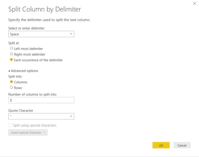 split column by delimiter syntelli solutions inc